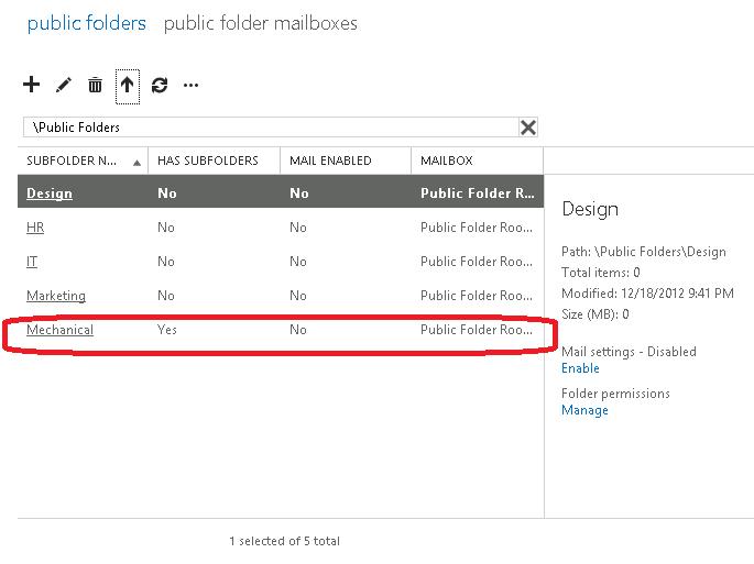 Resume public folder replication