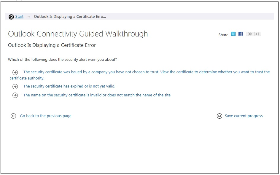 Outlook Connectivity Guided Walkthrough(s)   Just A UC Guy
