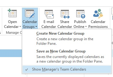 Manager's Team Calendars with Exchange / Office 365 Hybrid