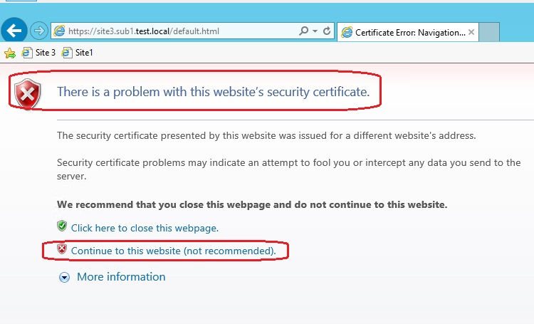 Single Ip And Multiple Wildcard Certificates Windows 2012 R2