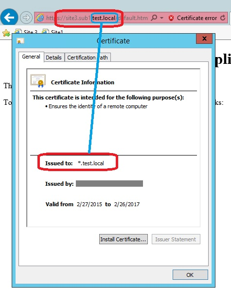 single ip and multiple wildcard certificates – windows 2012 r2 ...
