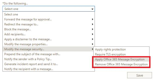 Office 365 Message Encryption – Transition to AIP | Just A